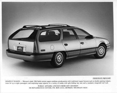 1986 Mercury Sable Station Wagon ORIGINAL Factory Photo oub7677