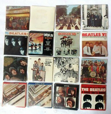 1980's COMPLETE SET OF 16 THE BEATLES CHEWING GUM MINIATURE ALBUM COLLECTION