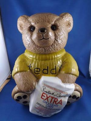 Presidents Choice Cookie Jar Teddy Bear Canada Grocery Store Collector