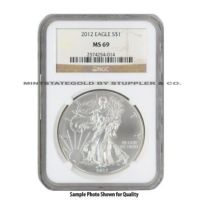 2012 $1 Silver Eagle NGC MS69 Modern Issue American Bullion 1oz .999 fine coin