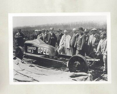 1928 Opel Rak 3 ORIGINAL Factory Photograph & Press Sheet wy5372