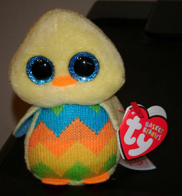 "Ty Basket Beanie Baby ~ TWEET the 3.5"" Easter Chick Bird ~ NEW with MINT TAGS"