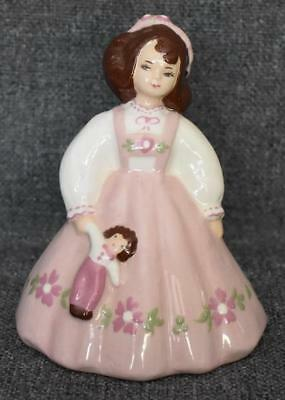 Charming Zaida Signed S-Quire Ceramics California Pottery Young Girl With Doll