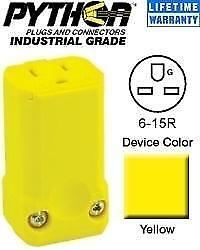 3 Leviton 6-15R Grounding Connector Receptacle Pro-Grade 15A 250V 15659 VY NEW
