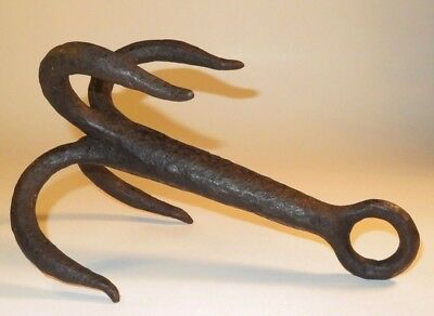 Nice 18Th Century Iron Naval Boarding Grappling Hook