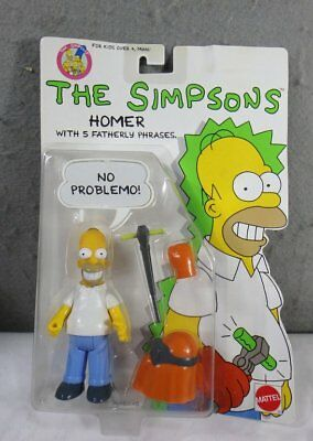 1990 New Mint On Card Mattel The Simpsons Homer Action Figure