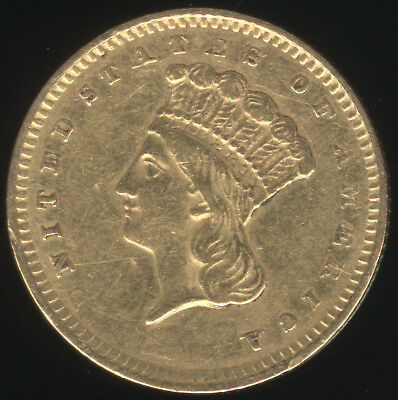 Genuine 1857 US $1 Gold Indian Princess Coin with XF Details
