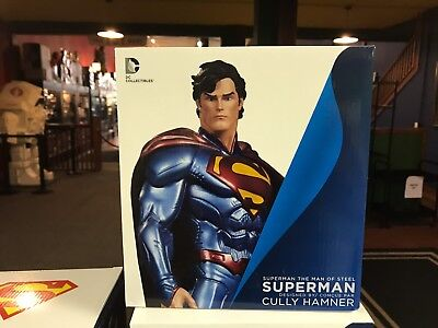 """DC Direct Collectibles Statue MIB - SUPERMAN CULLY HAMNER 7"""" Man of Steel"""