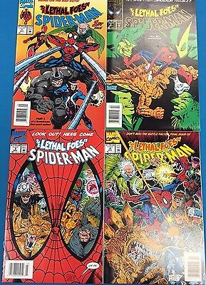 THE LETHAL FOES OF SPIDER-MAN set of (4) #1 #2 #3 #4 (1993) Marvel Comics FINE
