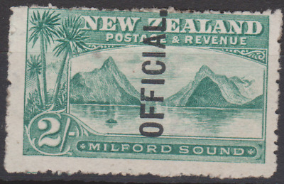 New Zealand 1907 Official MNH 2/- Blue Green SG066 Cat £85