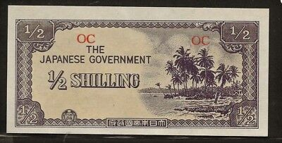 OCEANIA 1/2 shilling no date (1942) P1a AU+ palm trees, Japanese occupation WWII