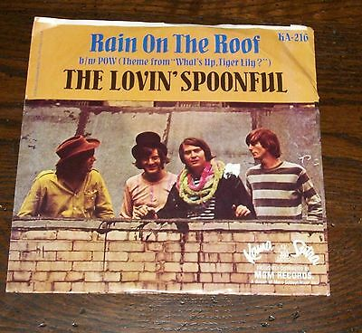 Foreigner Dirty White Boy Picture Sleeve 45 Record Album Lovin' Spoonful Rain On