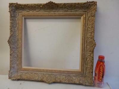 """VINTAGE old picture frame fits a 18 inch X 16"""" painting"""