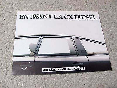 1983 Citroen Cx Diesel (France) Sales Brochure.....