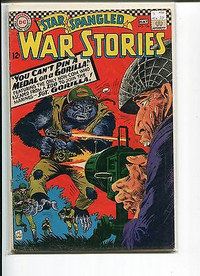 Star Spangled War Stories 126 Vg+ Sgt. Gorilla Kubert C/a  1966