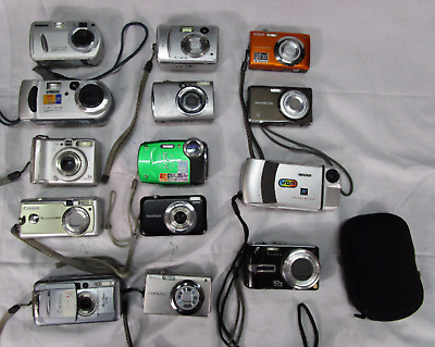 Lot of 14 Digital Cameras-Different Models FPOR(270)