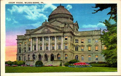 Postcard  Court House Wilkes-Barre Pennsylvania Linen Unused