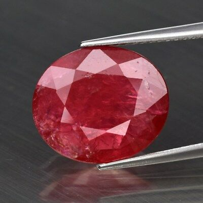Big Rare! 5.28ct 13.3x11.4mm Oval Natural Red Spinel, Tanzania
