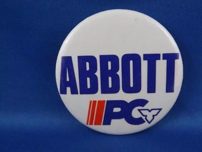 Abbot Pc Party Politician Canada Election Campaign Collector Button