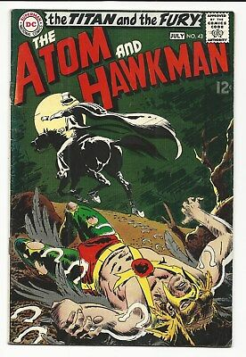 "The Atom And Hawkman "" # 43 The Titan And The Fury "" Nice Dc Silver Age Comic"