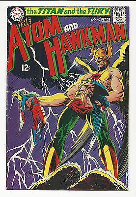 Atom And Hawkman # 40 The Titan And The Fury Nice Silver Age Dc Comic Book