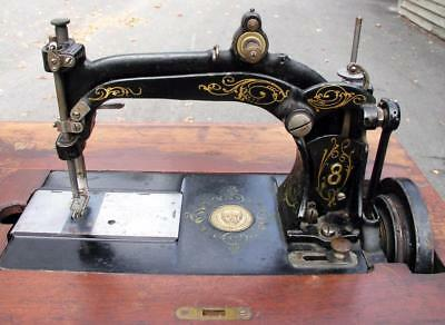 Antique Wheeler Wilson #8 Treadle Sewing Machine Complete Very Nice Condition