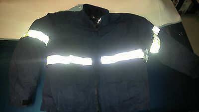 Black Globe Large 44-46 Police Fire Safety Jacket with Liner