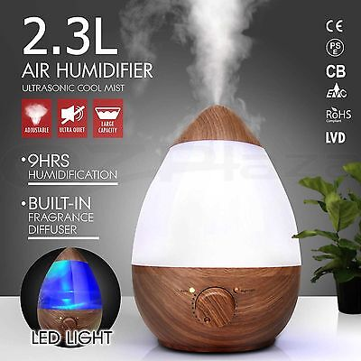 Aroma Diffuser LED Essential Oil Ultrasonic Air Humidifier Aromatherapy W0#