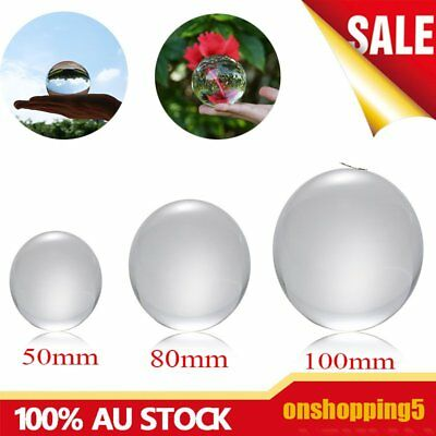 50mm/80mm/100mm Crystal Ball Quartz Glass Transparent Ball Spheres Glass Ball W&
