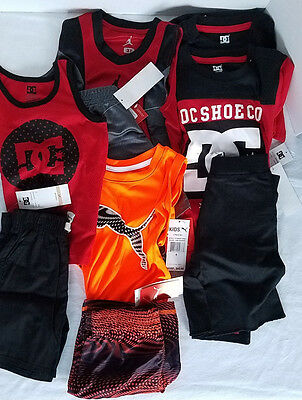 Lot of 5 Boys Toddler Shorts Sleeveless T Shirt Sets Nike DC Puma 2T 3T 4T 6 NWT