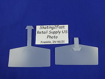"Label Ticket Holders Tag 3-3/8""w x 1-3/8""h Wire Rack & Basket Plastic"