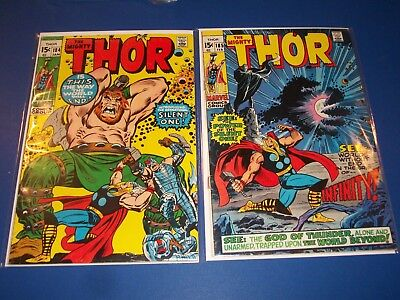 The Mighty Thor #184,185 Bronze age lot of 2