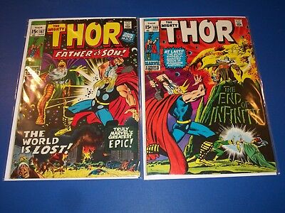 The Mighty Thor #187,188 Bronze age lot of 2 Fine Beauties