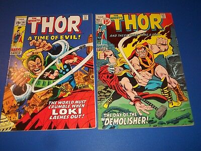 The Mighty Thor #191,192 Bronze age lot of 2 Fine/Fine+ Beauties