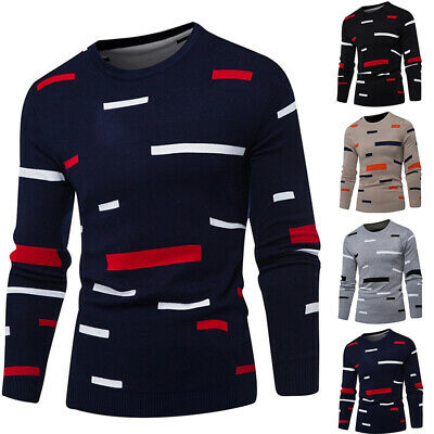 Mens Casual Slim Fit Knitted Cardigan Pullover Jumper Sweater Tops Coat Knitwear