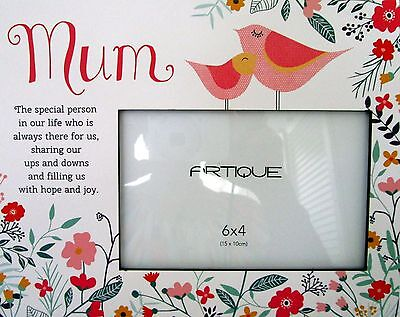 """Floral Photo Frame """"mum The Special Person..."""" Beautiful Birthday Gift Bnib"""
