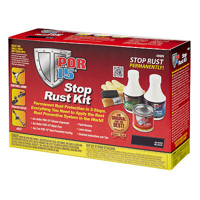 POR15 Rust Treatment/Prevention Super Starter Paint Kit For Car/Vehicle/Van