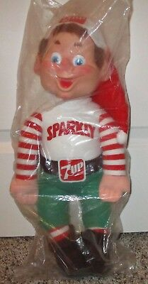 7-Up Cola  Sparkly  The Elf  7-Up Holiday Helper Plush Doll 1983