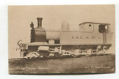 Londonderry & Lough Swilly Railway - tank engine - old Tuck postcard No. 4984