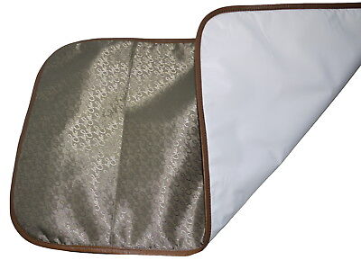 TRAVEL BABY CHANGING MAT PORTABLE FOLDING Choice of Coloured Leather Trim