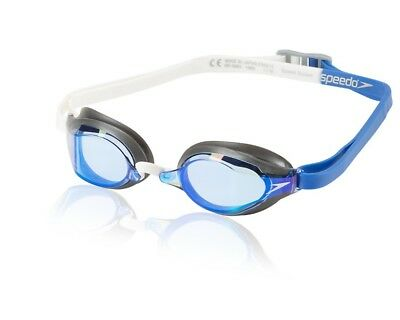 Speedo Speed Socket 2.0 Mirrored Swim Swimming Anti-Fog Goggles - Dazzling Blue
