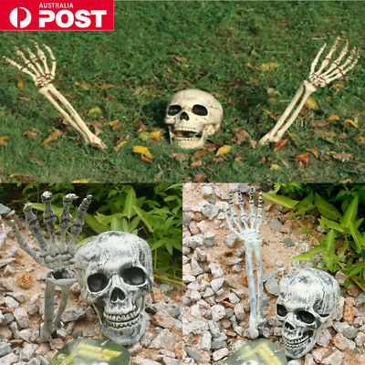 Halloween Horror Skeleton Head Bones Decorations Skull Hand Indoor Outdoor Scary