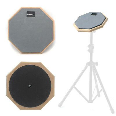 """Dumb Drum Soft Rubber Double Side Practice Pad Grey and Black 8"""""""