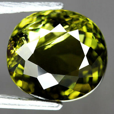 3.86Ct.gracefully! Oval Facet Neon Green Natural Tourmaline Nigeria