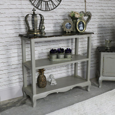 Grey painted wood sideboard console table living room hallway display furniture