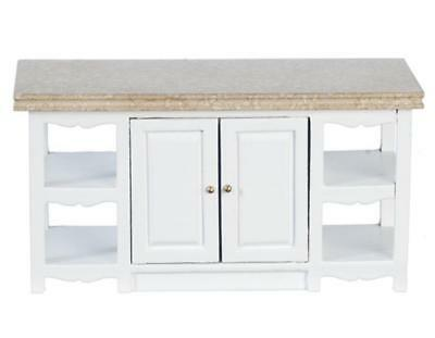 Melody Jane Dolls House White Kitchen Island Unit Miniature 1:12 Scale Furniture