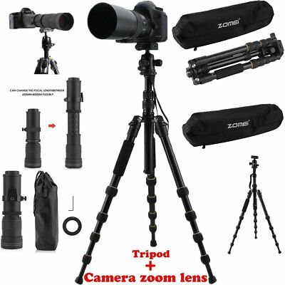 420-800mm telephoto zoom lens + Tripod Monopod For Canon For DSLR/Sony Camera~~