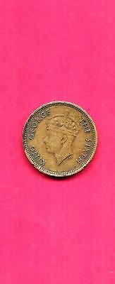 Hong Kong Km26 1950 Vf-Very Fine-Nice Old Vintage Circulated  5 Cents Coin
