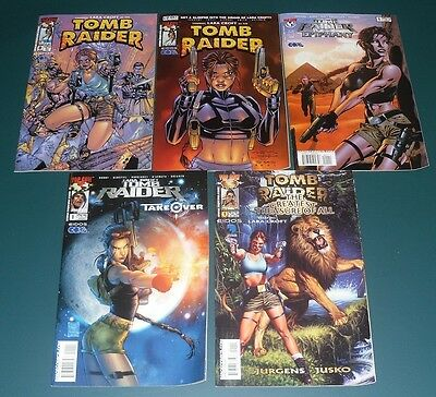 TOMB RAIDER Numbers 0, 1/2, 1, 1, 1,  Excellent Firsts Lot of 5 ~ See List NM