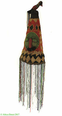 Yoruba Beaded King's Crown Adenla Nigeria African Art